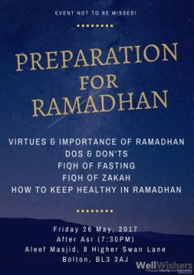 Preparation for Ramadhan